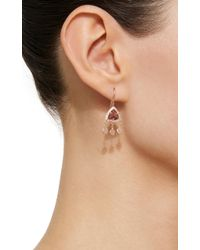Jacquie Aiche - Pink Tourmaline Pyramid With 3 Hammered Disc Shaker Earrings - Lyst
