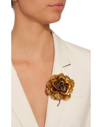 Erickson Beamon - Metallic Crystal Flower Brooch - Lyst