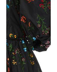 Caroline Constas - Black Belen Floral Dress - Lyst