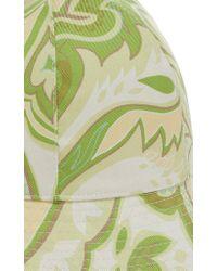 Etro - Green Floral-print Silk Bucket Hat - Lyst