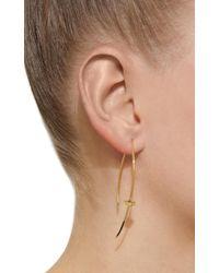 Mizuki - Metallic 14k Single Diamond Cube Slice Earrings - Lyst