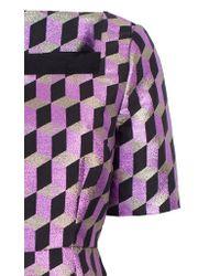 Baum und Pferdgarten - Purple Aila Geometric Print Mini Dress - Lyst
