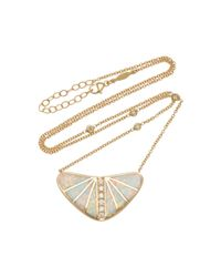 Jacquie Aiche - Blue One-of-a-kind Large Opal Inlay Boomerang Necklace - Lyst