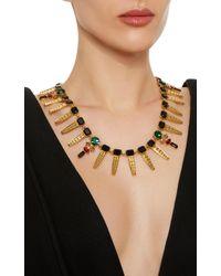 Nicole Romano - Metallic Keystone Gold-plated Crystal Necklace - Lyst