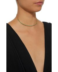 Susan Foster | Metallic 18k Gold Emerald Necklace | Lyst