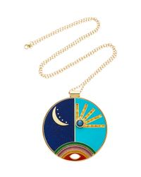 Andrea Fohrman - Blue One-of-a-kind Design Enamel Necklace - Lyst