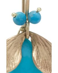 Annette Ferdinandsen - Metallic 18k Gold Turquoise Bug Earrings - Lyst