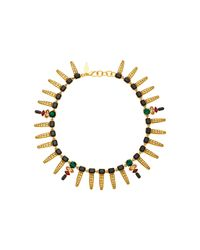 Nicole Romano - Metallic Keystone Gold-plated Crystal Necklace - Lyst