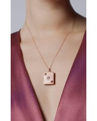 Fox and Bond - Pink Victorian Diamond And Citrine Gypsy Locket - Lyst