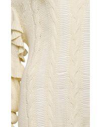 Magda Butrym | White Long Sleeve Midi Sweater Dress | Lyst
