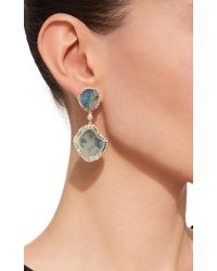 Kimberly Mcdonald - Green Light Geode And Boulder Opal Double Drop Earrings - Lyst