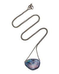 Kimberly Mcdonald | Pink Boulder Opal Pendant With Sapphire Bezel | Lyst