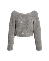 TOME | Gray Cropped Alpaca Sweater | Lyst