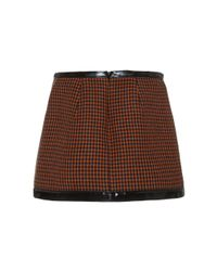 Philosophy Di Lorenzo Serafini - Brown Pied De Poule Mini Skirt - Lyst
