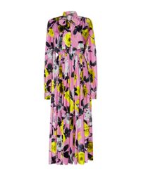 MSGM | Multicolor Floral Velvet Maxi Dress | Lyst