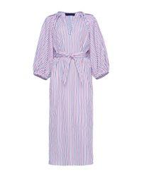 Martin Grant | Multicolor Striped Balloon Sleeve Shirt Dress | Lyst