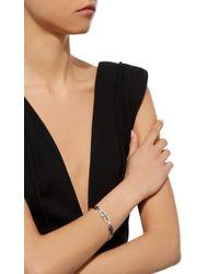 Nikos Koulis | Green Yesterday Bracelet With Pavé White Diamonds, Emerald Baguettes And Black Enamel | Lyst