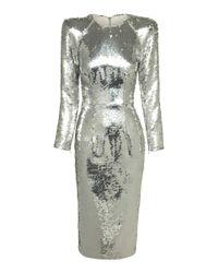 Alex Perry | Metallic Dalston Lady Dress | Lyst