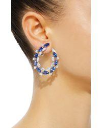 Sutra - Blue Sapphire Hoop Earrings - Lyst