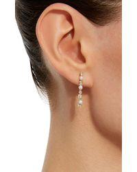 Nancy Newberg - Metallic Yellow Gold Stick Earrings With Pearls And Diamonds - Lyst