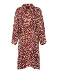 Marni | Red Printed Trench Coat | Lyst