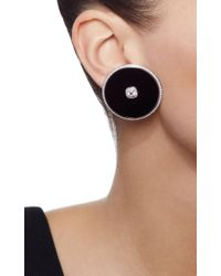 Nikos Koulis - Universe Black Earrings With Removable Stud - Lyst