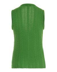 Tuinch - Green Braided Cashmere Vest - Lyst