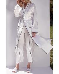Sleeper   White Hotel Silk Robe   Lyst