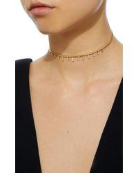 Suzanne Kalan - Metallic Dangling Diamond Choker - Lyst