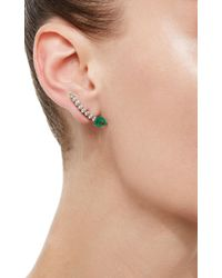 Jack Vartanian - Green Voyeur Emerald Comet Earrings - Lyst