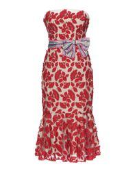 Lena Hoschek | Red Dahlia Strapless Mermaid Dress | Lyst