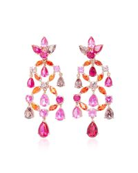 Anabela Chan | Pink M'o Exclusive Ruby Violet Chandelier Earrings | Lyst