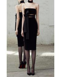 Alex Perry | Black Imogen Velvet Cocktail Dress | Lyst