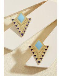 Mata Traders - Metallic The Echo Of Deco Earrings - Lyst