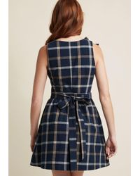 ModCloth - Blue Patio Presence Cotton A-line Dress - Lyst