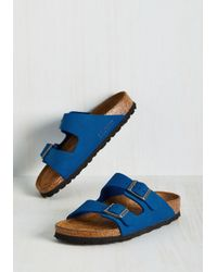 Lyst - Birkenstock Strappy Camper Sandal In Cobalt - Narrow in Blue ... b7dc2f9f853
