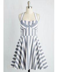 Ixia | Blue Traveling Cake Pop Truck Dress In Stripes | Lyst