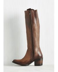 Freebird by Steven - Brown Genre Queen Leather Boot - Lyst