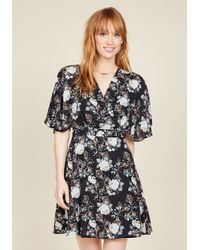 Esley | Black Food District Date Floral Dress | Lyst