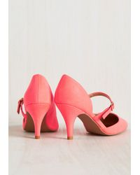 East Lion Corp/Qupid - Pink Highlight Profile Heel - Lyst