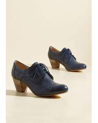 ModCloth | Blue Bravo, Milano Oxford Heel In Navy | Lyst