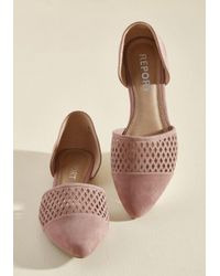Report - Pink Some Ease And Quiet Flat In Mauve - Lyst