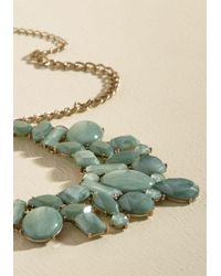 Ana Accessories Inc - Green Statement Your Business Necklace In Sage - Lyst