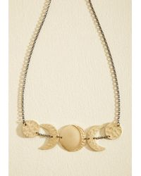 ModCloth - Metallic What Do You Moon? Necklace - Lyst