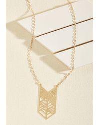 ModCloth | Metallic Got It All Chevron Necklace | Lyst