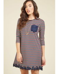 Peach Love California - Blue Dreamy Like Sunday Morning Shift Dress - Lyst