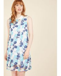 ModCloth | Blue Unrivaled Arrival Shift Dress | Lyst