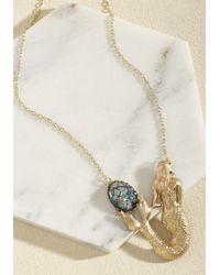 ModCloth - Metallic Fin-fin Situation Necklace - Lyst