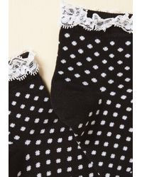 ModCloth - Black Frill And Grace Socks In Raven - Lyst