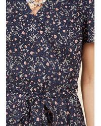 Sunny Girl Pty Lltd - Blue Flaunting Florals Surplice Midi Dress - Lyst